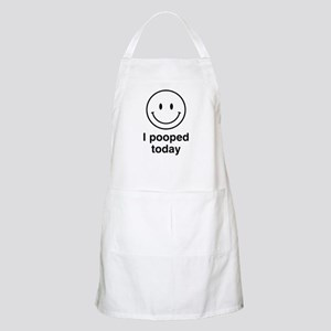 I Pooped Today Smiley Apron