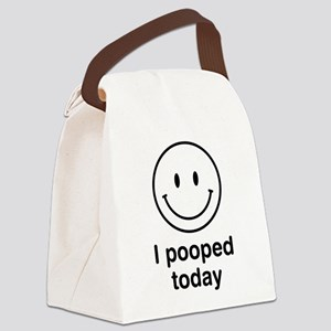 I Pooped Today Smiley Canvas Lunch Bag