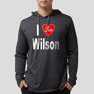 ILoveWilsonTrans10x10 Mens Hooded Shirt
