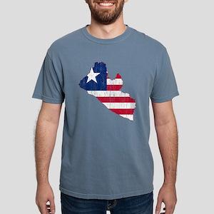 Liberia Flag and Map Age Mens Comfort Colors Shirt