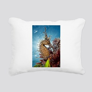Sea Horse Rectangular Canvas Pillow
