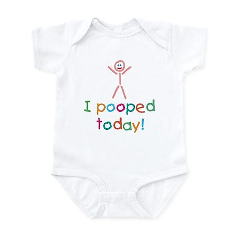 I Pooped Today Fun Infant Bodysuit