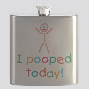 I Pooped Today Fun Flask