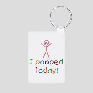 I Pooped Today Fun Aluminum Photo Keychain