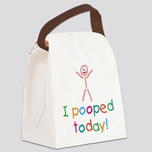 I Pooped Today Fun Canvas Lunch Bag