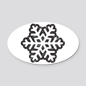 Flakey Oval Car Magnet