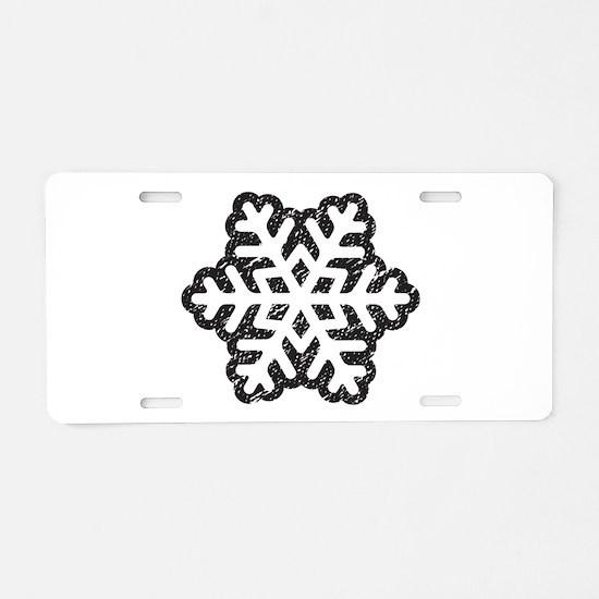 Flakey Aluminum License Plate