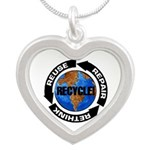 Recycle World Silver Heart Necklace