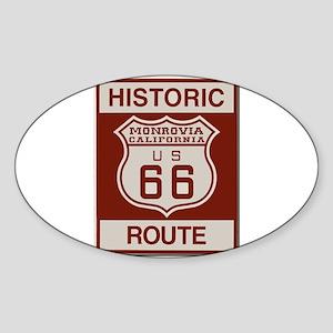 Monrovia Route 66 Sticker (Oval)