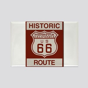 Monrovia Route 66 Rectangle Magnet