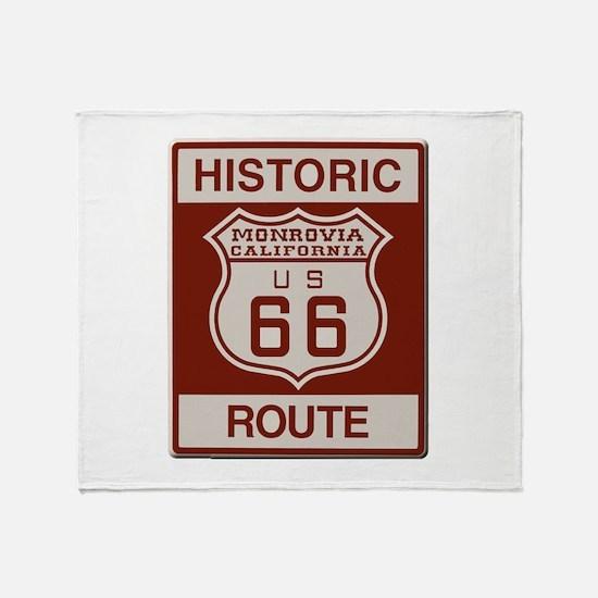 Monrovia Route 66 Throw Blanket
