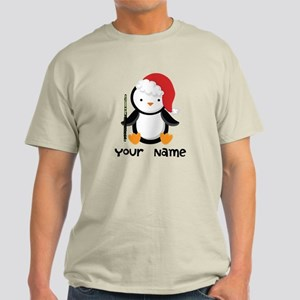 Personalized Flute Penguin Light T-Shirt