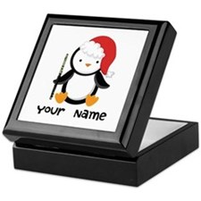Personalized Flute Penguin Keepsake Box