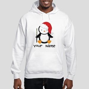 Personalized Flute Penguin Hooded Sweatshirt