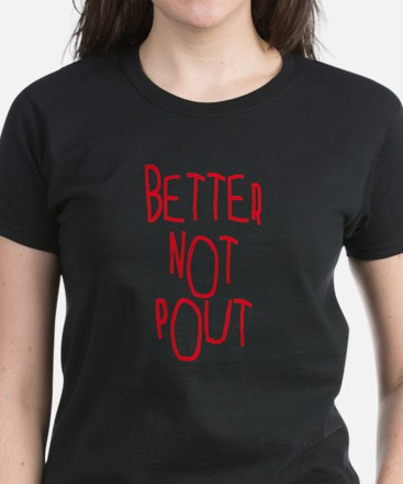 Better Not Pout Christmas Women's Dark T-Shirt