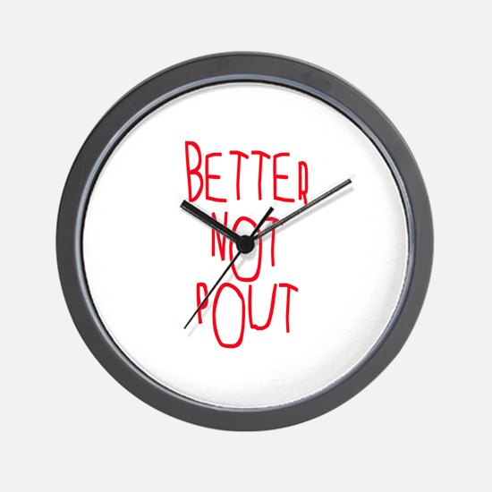 Better Not Pout Christmas Wall Clock