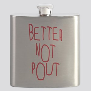 Better Not Pout Christmas Flask