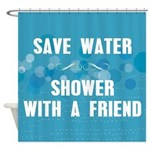 Shower With A Friend Shower Curtain