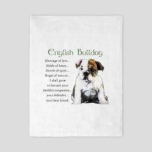 English Bulldog Twin Duvet
