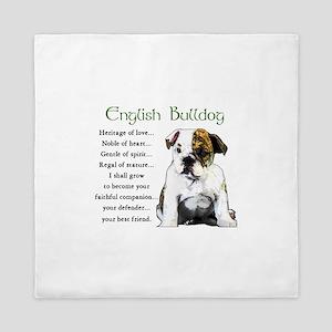 English Bulldog Queen Duvet