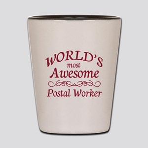 Awesome Postal Worker Shot Glass