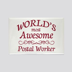 Awesome Postal Worker Rectangle Magnet