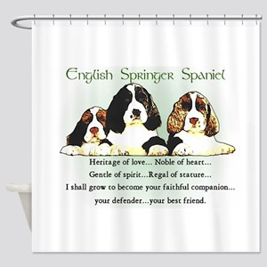 Eng. Springer Spaniel Shower Curtain