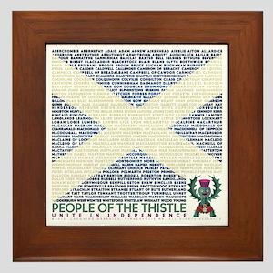 Clan Names Framed Tile
