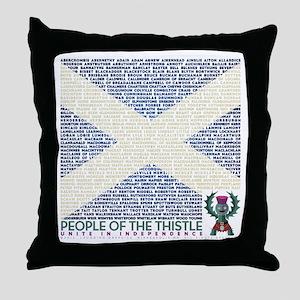 Clan Names Throw Pillow