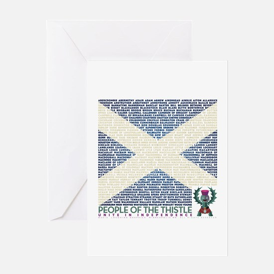 Clan Names Greeting Card