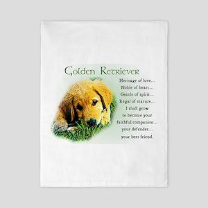 Golden Retriever Twin Duvet