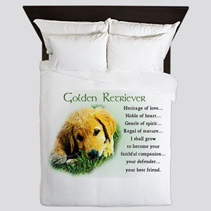 Golden Retriever Queen Duvet
