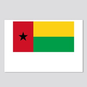 Guinea Bissau Flag Picture Postcards (Package of 8