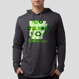 Go Green Arkansas Mens Hooded Shirt