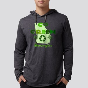 Go Green Georgia Mens Hooded Shirt
