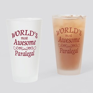 Awesome Paralegal Drinking Glass