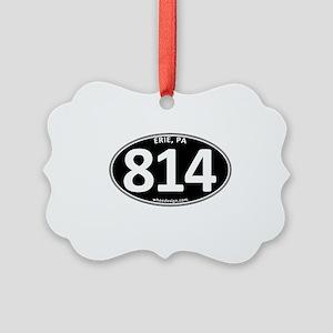 Black Erie, PA 814 Picture Ornament