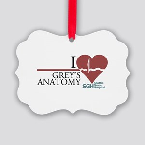 I Heart Grey's Anatomy Picture Ornament