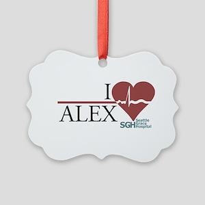 I Heart Alex - Grey's Anatomy Picture Ornament