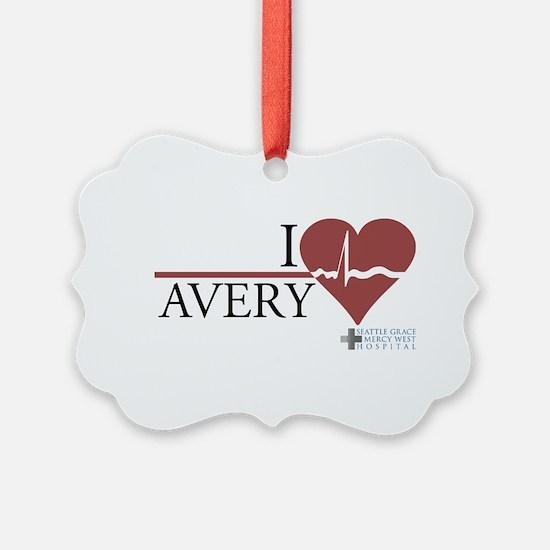 I Heart Avery - Grey's Anatom Ornament