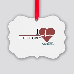 I Heart Little Grey Picture Ornament