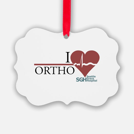 I Heart Ortho - Grey's Anatom Ornament