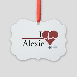 I Heart Alexie - Grey's Anato Picture Ornament