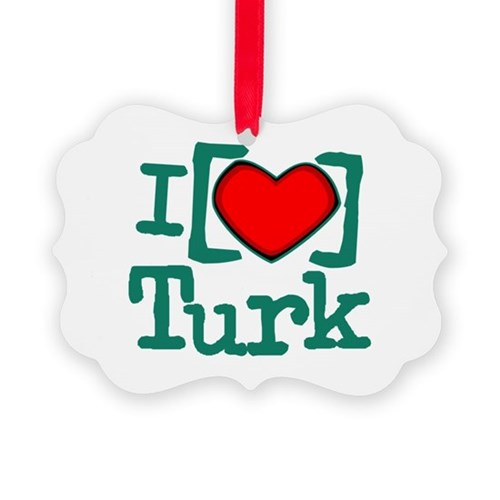 I Heart Turk Picture Ornament