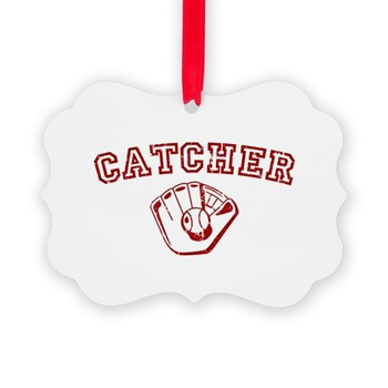 Catcher - Red Picture Ornament
