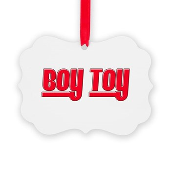 Boy Toy - Red Picture Ornament