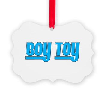 Boy Toy - Blue Picture Ornament