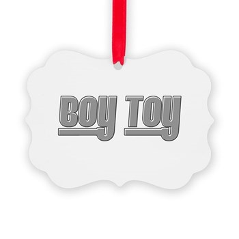 Boy Toy - Gray Picture Ornament