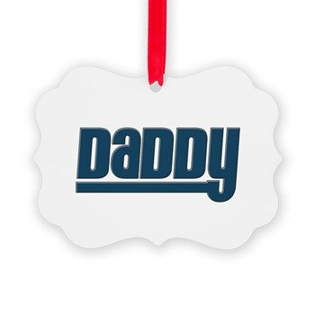 Daddy - Blue Picture Ornament