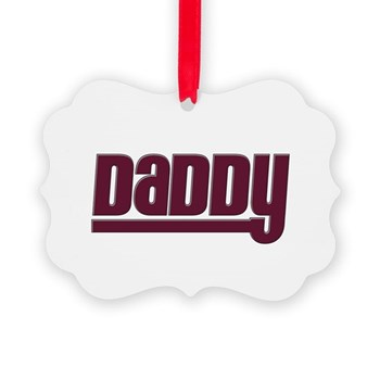 Daddy - Red Picture Ornament